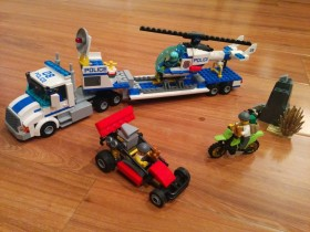 Lego police truck in the jungle